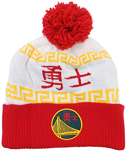 adidas Golden State Warriors Chinese New Year Cuffed Knit Pom Hat/Cap