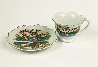 Small decorative tea set tea cup and saucer made in Japan china bone porcelain vintage