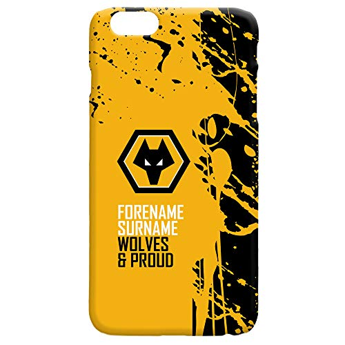 Official PERSONALISED Wolverhampton Wanderers Wolves Football Proud Hard Back Phone Case Iphone & Samsung Compatible