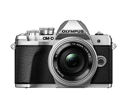 Olympus OM-D E-M10 Mark III Kit, Micro Four Thirds Systemkamera und M.Zuiko Digital ED 14-42 mm F3.5-5.6 EZ Zoomobjektiv, silber
