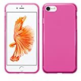 TBOC Funda de Gel TPU Rosa para Apple iPhone 7 - iPhone 8 - iPhone SE (2020) (4.7 Pulgadas) de Silicona Ultrafina y Flexible