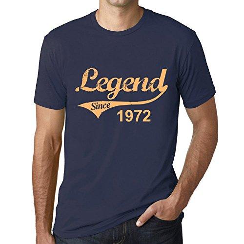 One in the City Hombre Camiseta Vintage T-Shirt 1972 Cumpleaños de 49 años Marine francés Marine francés M