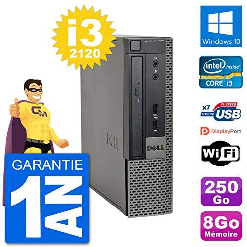 Dell Ultra Mini PC 790 USFF i3-2120 RAM 8 GB Disco Duro 250 GB Windows 10 WiFi (Reacondicionado)