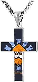 Cross Necklace Retro Japanese Splato-on Unisex Key Holder Chain Pendant Religious Jewelry Chokers