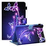 Galaxy Tab 4 8.0 inch Smart Shell Case, Dteck Stand Soft TPU Flip Case Wallet Cover with Auto Wake/Sleep Feature Cover for Samsung Galaxy Tab 4 8.0 inch SM-T330 T331 T335 T337A Tablet,Butterfly
