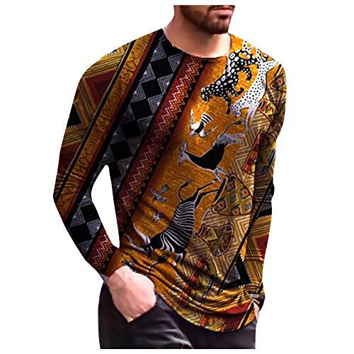 tohole Langarm T-Shirt Funktionsshirts, Fitness T-Shirts für Herren in knalligen Farben, Sportkleidung, Sportshirt, Trainingsoberteil rundem Ausschnitt