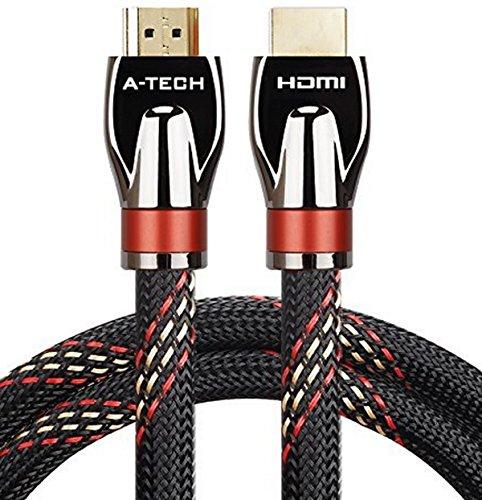 KPA-tech Ultra High Speed Hdmi Kabel 12m Audio Kabel Unterstützung Ethernet, 3D, 1080p und Audio Return (ARC) CL3 Funktion und mit 24k vergoldeten Stecker - Full Hd [Neueste Ver]