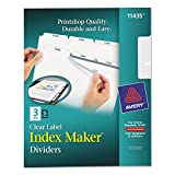 Avery 11435 Index Maker, Laser, Punched, 3-Tabs, 5 ST/PK,8-1/2-Inch x11-Inch,CL