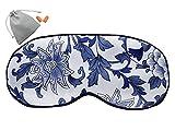 MSSilk Masque Anti-Sommeil de Taille supplémentaire - Selle de mûrier Lisse - Bracelet élastique réglable - Léger - avec Une Paire Bonus d'oreille dans Une Pochette de Transport