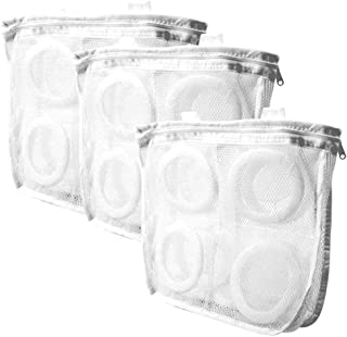 A-BIENTOT (アビアント) シューズ用 洗濯ネット そのまま干せる クッションで保護 (ホワイト, 3枚セット)