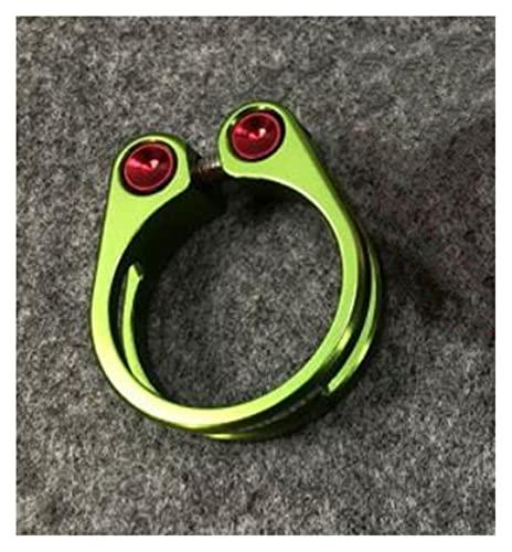 Abrazadera Sillin 1 UNIDS CNC ALOYO MTB MTB Sillero de Asiento 31.8 34.9mm Tornillo Fijo Cierre Tija Sillin 34.9 (Color : 31.8MM Green)