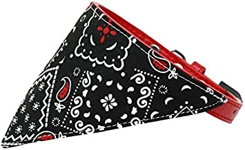 Mirage Pet Products Black Western Bandana Pet Collar Red, Size 12