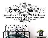 Eslogan Inspirador Campamento De Verano Al Aire Libre Bosque Vela Etiqueta De La Pared Niños Y Jóvenes Dormitorio Vinilo Decoración Del Hogar 107X57 Cm