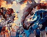 Pintar Por Número De Kits Para Adultos Niños Principiantes Pintura Al Óleo Kit Belleza Y Caballo Con Pinceles Y Pinturas Para La Decoración De La Pared De La Casa 40 X 50 Cm Con Marco