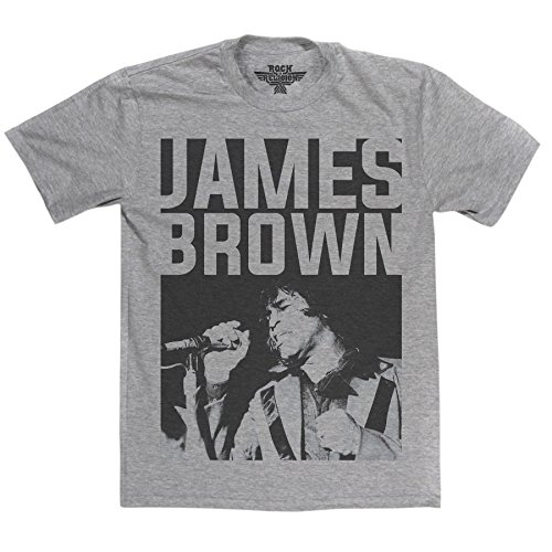Rock is Religion James Brown T-shirt (sportsgrey/print large)