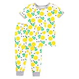 Lamaze Organic Baby Organic Baby/Toddler Girl, Boy, Unisex Tight Fit, Yellow Lemons, 3T