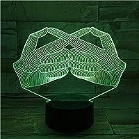 ハロウィーンホリデーギフト3Dナイトライト目の錯覚発光家族装飾ランプ手話