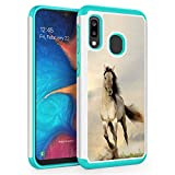 Galaxy A10E Case, Galaxy A20E Case,Skyfree Shockproof Heavy Duty Protection Hard PC & Soft TPU Hybrid Dual Layer Protective Phone Case for Samsung Galaxy A10E/A20E,White Horse Running
