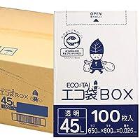 ポリ袋 ごみ袋 透明 ボックスタイプ Bedwin Mart (01_45L, 02_ケース)