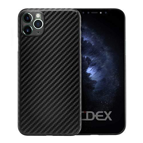 doupi UltraSlim Hülle für iPhone 11 Pro (5,8 Zoll), Carbon Fiber Look Ultra Dünn Handyhülle Cover Bumper Schutz Schale Hard Case Taschenschutz Design Schutzhülle, Kohlefaser Optik schwarz