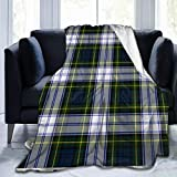 Lcuce Stylish Gordon Dress Tartan Plaid Throw Blanket Soft Flannel Fleece Blanket for Couch,Bed,Sofa,Chair Office,Travel,Camping,Modern Decorative Warm Blanket 50x60 inches