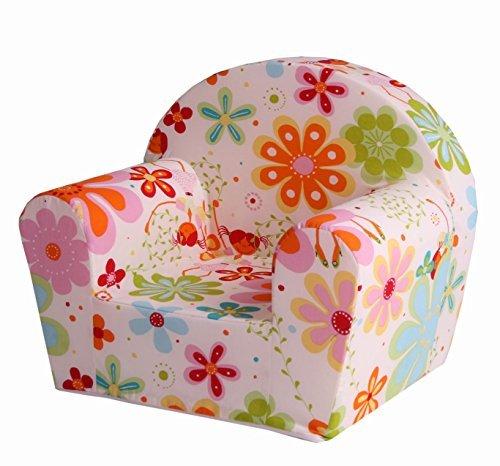 """Sun Garden Kindersessel """"Ludger"""" für Mädchen und Jungen, kuschelig weicher Schaumstoff Baby-Sessel mit Blumen-Fee Motiv"""