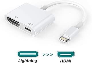 iPhone iPad HDMI 変換 ケーブルHD 1080P高画質・高音質 安定出力 設定不要 簡単接続 耐熱 AVアダプタ hdmi変換アダプター HDMI変換コネクタ iOS11 iOS12サポートiPhone X/XR/XRMax/iPhone 8 など対応 (ホワイト)