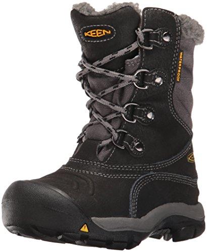 Keen Unisex Basin WP buty trekkingowe dla dzieci, czarny - Czarny Black Gargoyle - 24 EU