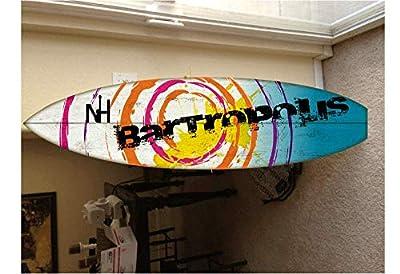 5' wall hanging surf board surfboard decor hawaiian beach surfing beach decor by