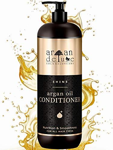Argan Deluxe Conditioner in Friseur-Qualität 1000 ml – VERBESSERTE REZEPTUR - stark pflegend mit Arganöl für Geschmeidigkeit & Glanz – für Damen und Herren