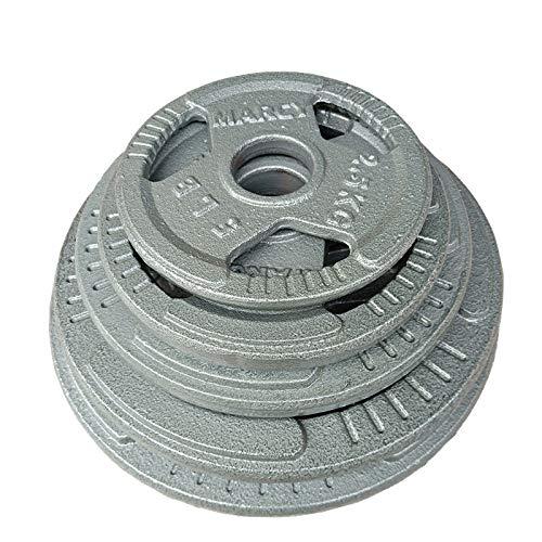 Olympia Gewicht Hantelscheiben Gusseisen Hantelgewichte mit Durchmesser 2 inch / 50mm für Kurzhanteln und Langhanteln, Gewichte für Langhantel Hantel - 2.5KG, 5KG, 7.5KG,10KG, 15KG, 20KG,2x2.5kg