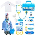 Fajiabao Doctor Kits for Kids Medical Playset Toys Toddler Boy Toys Doctor Coat Indoor Family Cosplay Party Games Dress Up Costume Role Pretend Play Birthday Gifts for Boys Girls 2 3 4 5 Years Old by Fajiabao