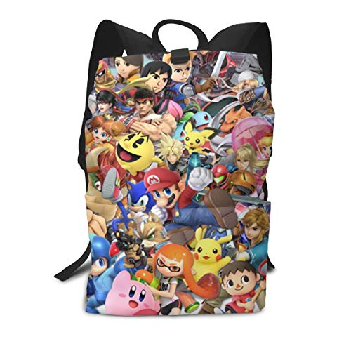 HZIJUE Super Smash Bros 3D Print School Bag Backpack Sports Backpack