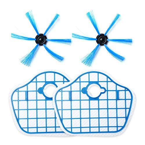 2 unids cepillo lateral con filtro HEPA se adapta para Phili