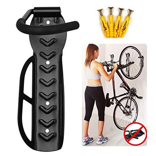 DOLA Soporte Bicicletas Pared Plegable, Colgador de Bici para Pared con Protección del Cuadro, Ganchos para Colgar Bicicletas