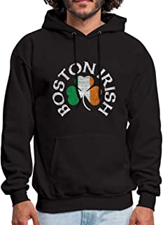 Spreadshirt Boston Irish Shamrock St. Patrick's Day Men's Hoodie