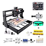 CNC 3018 Pro 3000mw Engraving Router Machine, Yofuly 2 in 1 Upgrade Version GRBL Control DIY Mini CNC Machine, 3 Axis PCB Milling Machine with Offline Controller, with ER11 and 5mm Extension Rod