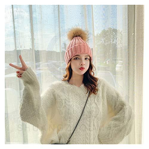 Fylsdes Sombrero de Invierno Linda mamá de Invierno Mujeres Ganchillo Sombrero Sombrero Gorras niños Muchacha Muchacho Gorros Sombreros Ropa (Color : N002 Pink, Size : One Size)