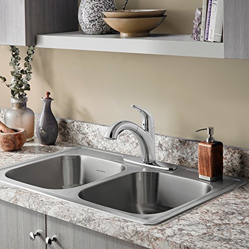American Standard 22DB.6332284S.075 Colony Top Mount ADA 33x22 Double Bowl Stainless Steel 4-hole Kitchen Sink