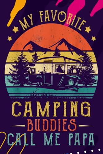 Account Information Notebook, Mens My Favorite Camping Buddies Call Me Papa Vintage Fathers Day