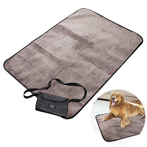 UEETEK Coperta per Animali Domestici,Coperta Impermeabile per Cani con Borsa da Trasporto Portatile per Cani Cucciolo Gatto all'Interno di Applicazioni Esterne,100 * 70CM(L * W)