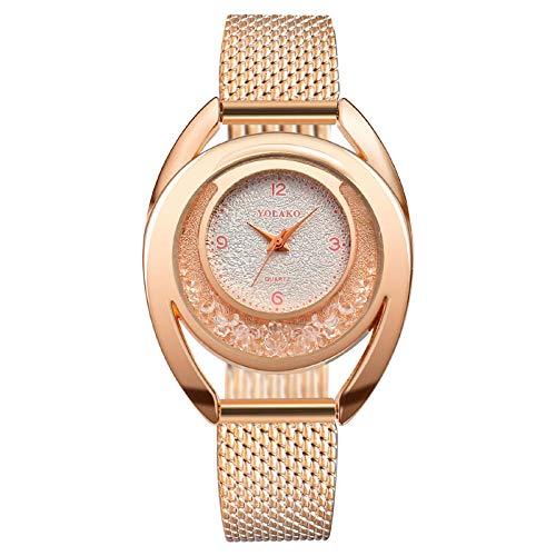 Reloj de pulsera digital para mujer con brillantes y mecanismo de cuarzo.