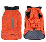 Rantow Reflective Dog Coat Winter Vest Loft Jacket for Small Medium Large Dogs Water-Resistant Windproof Snowsuit Cold Weather Pets Apparel, 6 Colors 7 Sizes (S, Orange)