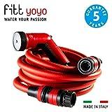 FITT YOYO Go Tubo Acqua da Giardino Estensibile per Irrigazione con Pistola Multigetto e Z...