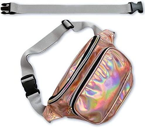 RedOrbis Plus Size Fanny Pack for Women with Extender Holographic Fanny Pack for Sport Outdoor product image
