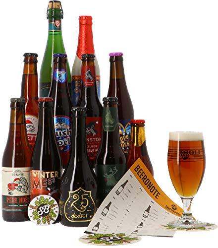 Craft Beer Box - Biertasting - Probierpaket (11 Weihnachts-Bierkasten + 1 glas)
