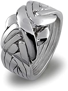 Puzzle Ring in Sterling Silver 7BDS