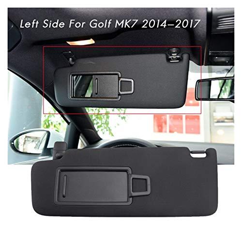 SHOUNAO Lado Izquierdo Coche Interior Sol Sombra Sombra con Espejo De Maquillaje Black Fit para Golf Mk7 2014-2017 5gg857551 (Color : Gray)