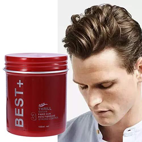 3 tipos de 100 ml profesional de larga duración de pelo mullido acabado cera herramientas de diseño para hombres(gris)
