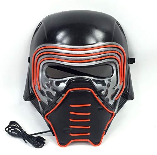 LIUWENMEI Glühende Maske, Halloween-Maskerade-Glühen-Schablonen-Stab-Partei-Kaltlicht-Maske